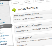 Marketpress Product Importer Screenshot